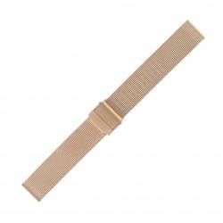 Bracelet de Montre 18mm Rose Gold Maille Milanaise Acier Rowi-Fixoflex®