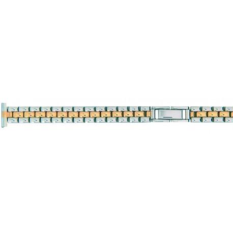 Bracelet de montre 12mm Acier PVD Bicolore Fermoir invisible Rowi