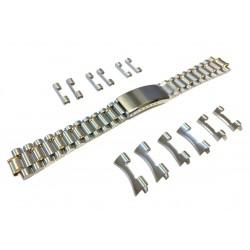 Bracelet de Montre Multi Anses 18-20-22mm Acier Bicolore Inoxydable Rowi
