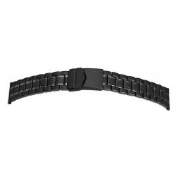 Bracelet de montre 22mm Noir en Acier Inoxydable Rowi Made In Germany