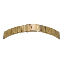 Bracelet de Montre 24mm en Acier Massif Gold Inoxydable Rowi Made In Germany