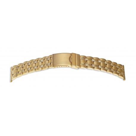 Bracelet de Montre 22mm en Acier Gold Inoxydable Rowi Made In Germany