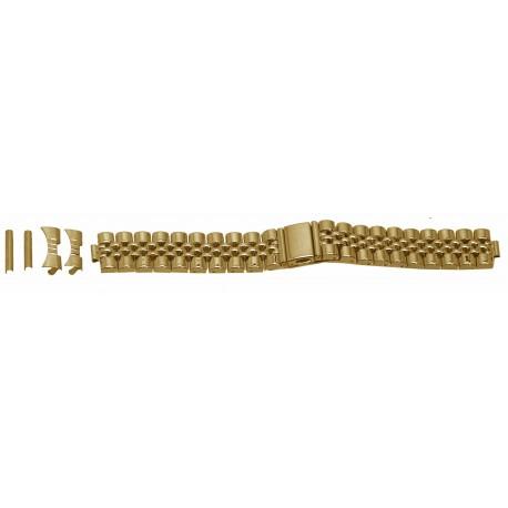 Bracelet de montre Muti Anses 20 et 22mm en Acier Gold Rowi Made In Germany