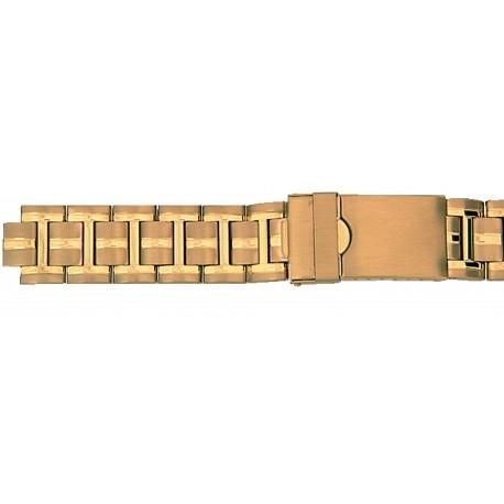 Bracelet de montre Muti Anses 18-20 et 22mm en Acier Gold Rowi Made In Germany