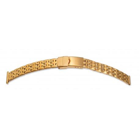 Bracelet de montre Muti Anses 12-14 et 16mm en Acier Gold Rowi Made In Germany