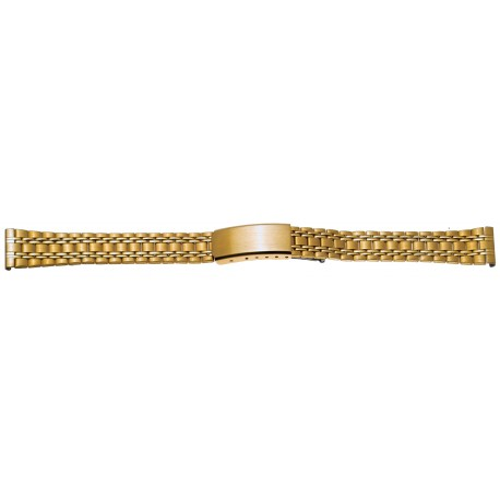 Bracelet de Montre 16mm en Acier Gold Inoxydable Rowi Made In Germany