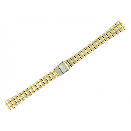 Bracelet de Montre 14mm en Acier Bicolor Boucle coulissante de sureté