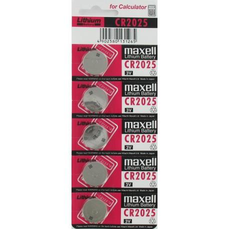 Pile Lithium électronique CR2025 3 Volts Maxell