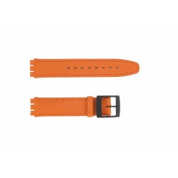 Bracelet de Montre 17mm Compatible pour Montre Swatch en Synthétique Orange