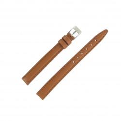 Bracelet de montre 12mm Marron Doré Extra Long en Cuir Fabrication Artisanale