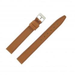 Bracelet de montre 14mm Marron Doré Extra Long en Cuir Fabrication Artisanale