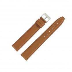 Bracelet de montre 18mm Marron Doré Extra Long en Cuir Fabrication Artisanale