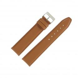 Bracelet de montre 22mm Marron Doré Extra Long en Cuir Fabrication Artisanale