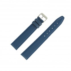 Bracelet de montre 18mm Bleu Europe Extra Long en Cuir Fabrication Artisanale