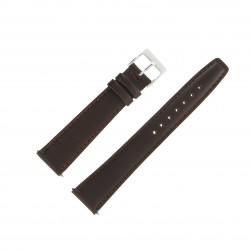Bracelet de montre 20mm Marron Extra Long en Cuir Véritable