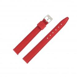Bracelet de montre 14mm Rouge Extra Long en Cuir Fabrication Artisanale