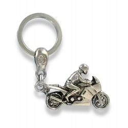 Porte clés moto sportive en métal. Made In France Artisanal
