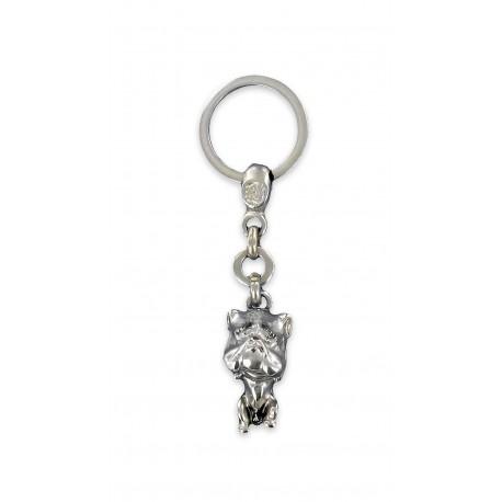 Porte clés Chien bulldog en Métal Fabrication Artisanale