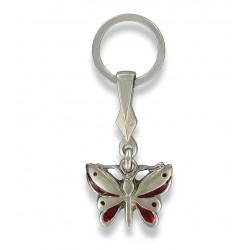 Porte clés papillon. Fabrication Artisanale Française.