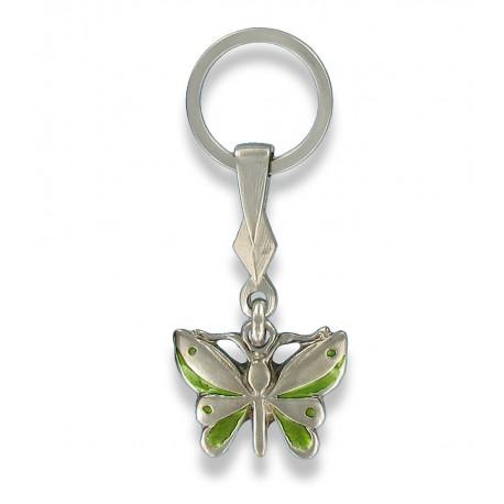 Porte clés papillon en métal. rebut.karine@orange.fr