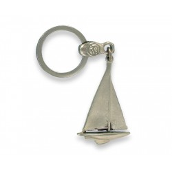 Porte clés voilier type Pen Duick en Métal . Made In France Artisanal