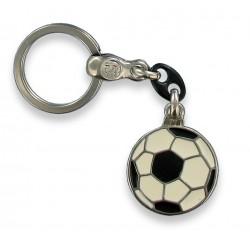 Porte clés ballon de football en métal. Made In France Artisanal