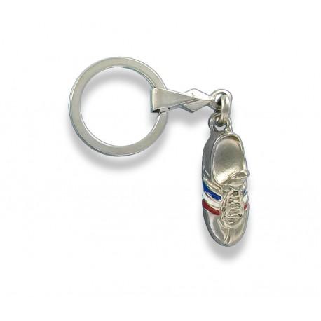 Porte clés chaussure de football en métal.Made In France Artisanal