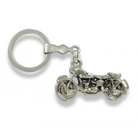 Porte clés motocyclette ancienne en métal. Made In France Artisanal