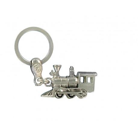 Porte clés locomotive à vapeur en métal . Made In France Artisanal
