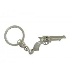 Porte clés revolver Cow Boy type colt en métal. Made In France Artisanal