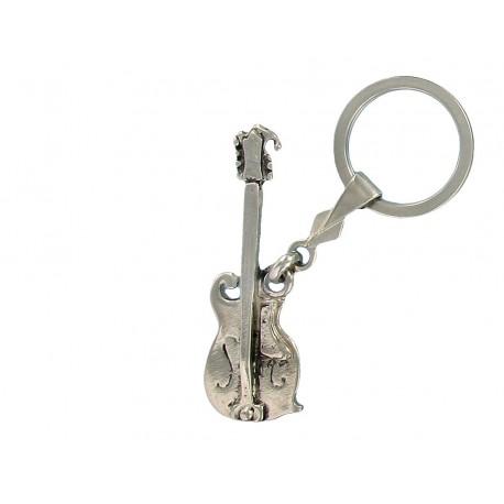 Porte clés guitare folk en métal. Made In France Artisanal