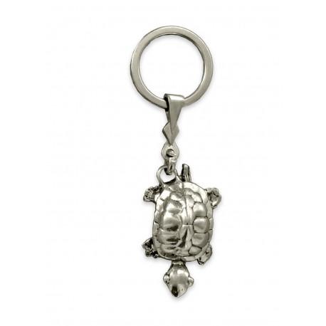 Porte clés Tortue terrestre en métal. Made In France Artisanal